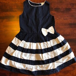 Osh Kosh blue and white dress
